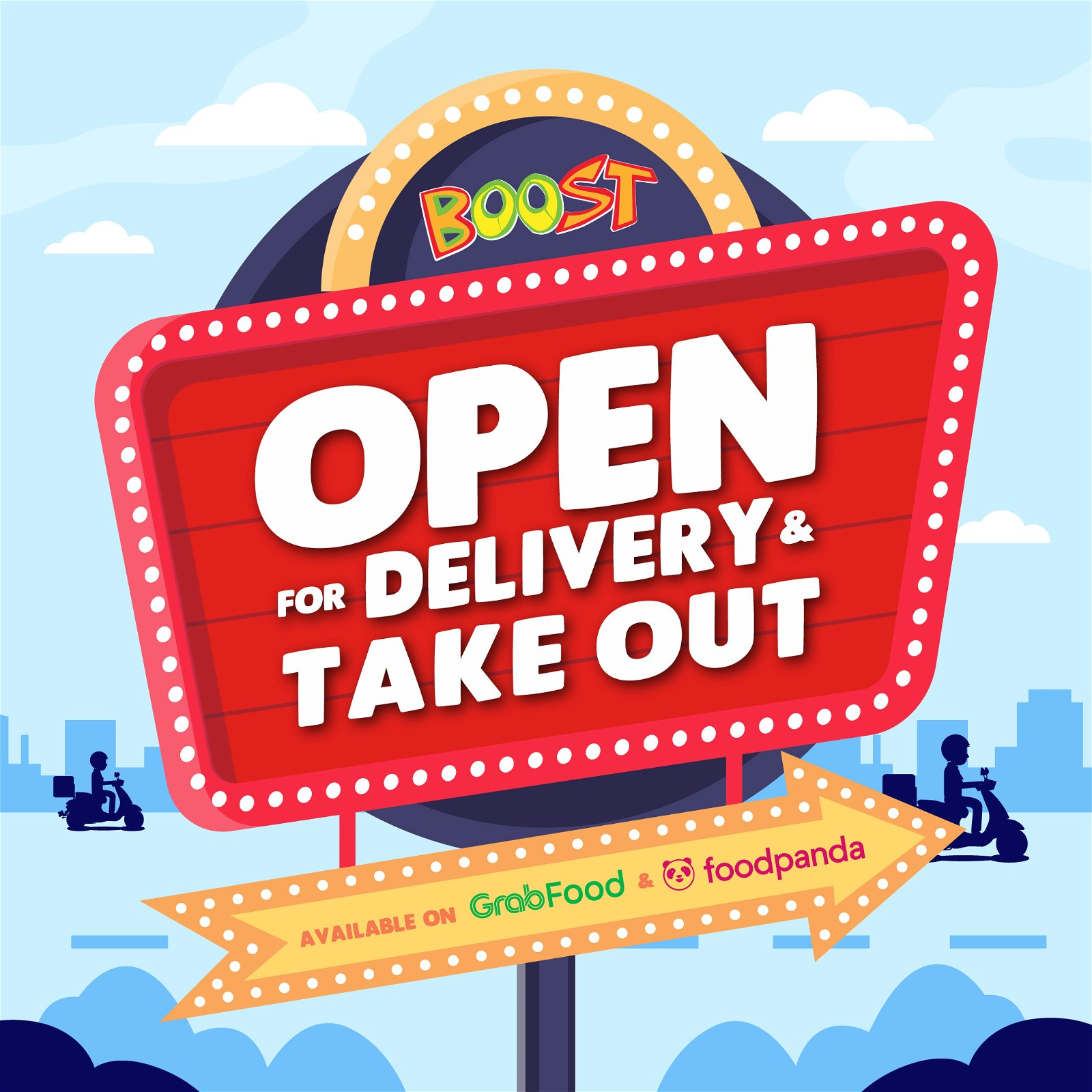Boost is Available for Delivery and Takeout Now!