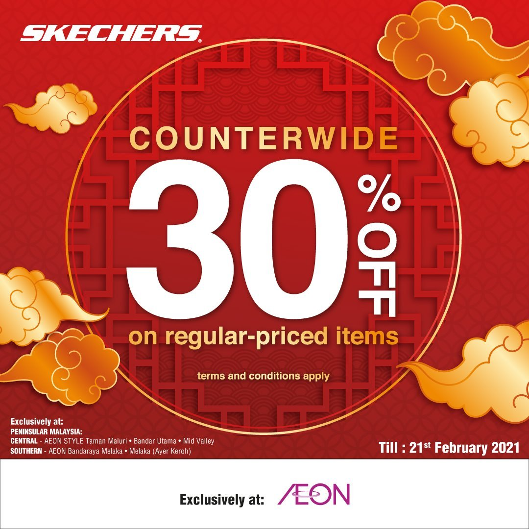 Sketchers 30% Off on Regular Price Item